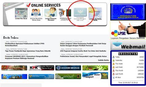pembuatan paspor online imigrasi tangerang cara mudah membuat paspor online tokocatjotun com