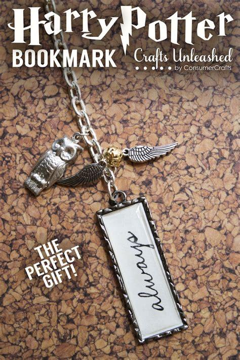 harry potter diy crafts diy harry potter bookmark gift idea crafts unleashed