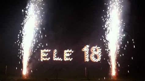 sorprese con candele scritta pirotecnica 18 anni ronchi fireworks scritta