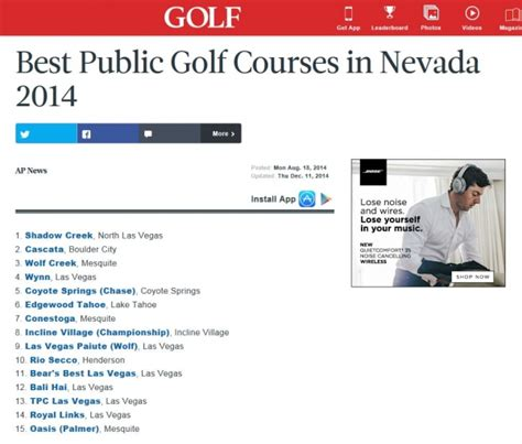 top 75 public courses in nevada golf conestoga golf club 702 346 4292