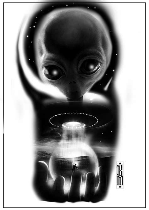 digital tattoo design cosmos ufo design aliens digital galaxy
