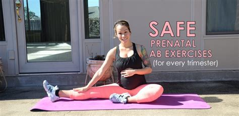 safe effective abdominal exercises for every trimester during pregnancy diary of a fit