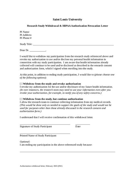 Format Letter Of Withdrawal 2017 authorization letter templates fillable printable