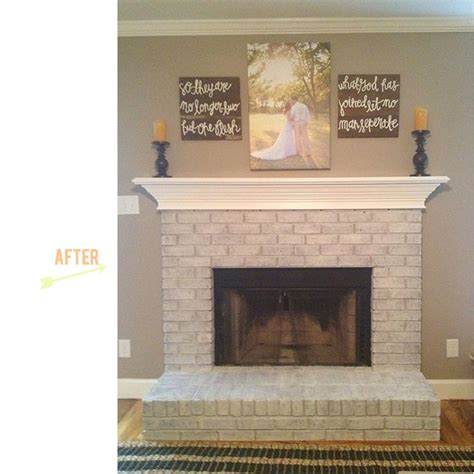 25 best ideas about white washed fireplace on