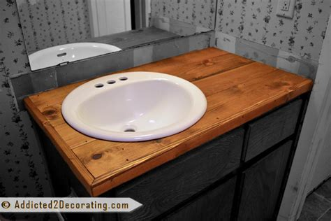 how to remove stains from bathroom countertops bathroom makeover day 2 my 35 diy wood countertop