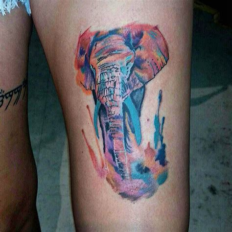 watercolor tattoo artists jacksonville watercolor elephant by dustin at peacock s