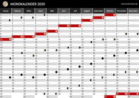 mondphasen kalender  kalender