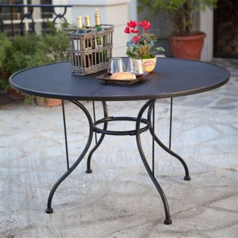 Wrought Iron Patio Dining Table Paxton Wrought Iron Outdoor Dining Table Contemporary Outdoor Dining Tables By Hayneedle