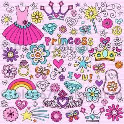 Cute princess notebook doodle design elements illustration flickr