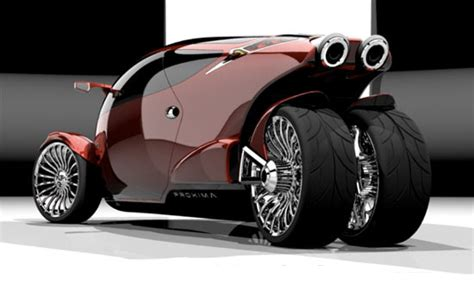 Practical three wheeled vehicles and futuristic   4 wheel