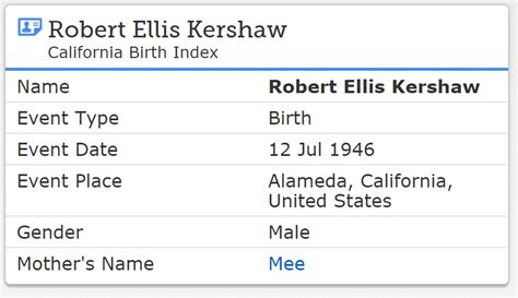 Birth Records California California Birth Records 1905 1995 Familytree