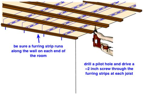 Furring Strips Ceiling by How To Install A Drywall Ceiling Do It Yourself Help