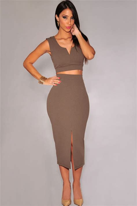 Bq064 Size M Rok Lipit Midi Skirt Black Gray Fhasion Wanita coffee front slit two midi skirt set 024663 available inbrown one size for only 9 56
