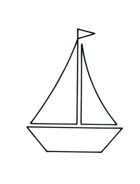 boat outline printable it s smooth sailing with this pretty cushion design
