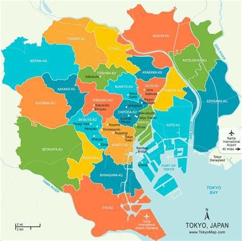 map of tokyo tokyo japan tourist destinations