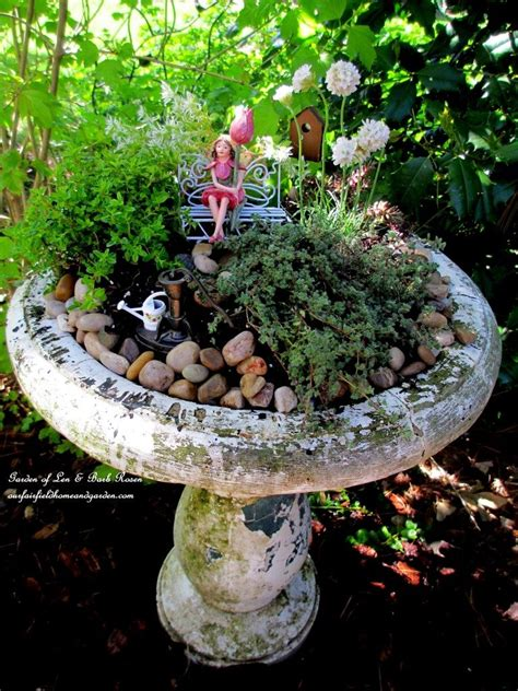 turn broken fountains  bird baths  amazing