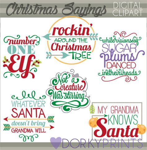 christmas clipart quotes and scrapbook titles personal and