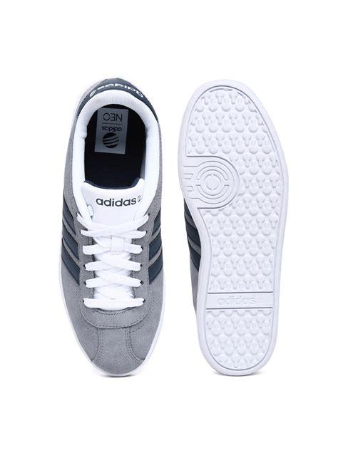 Adidas Neo Vl Court Grey Navy 1 myntra adidas neo grey vl court suede casual shoes