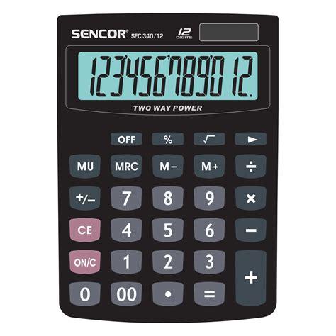table calculator sec 340 12 sencor let s live
