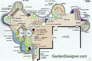 treated wood deck and natural wildlife planting garden landscape plan twenty six at