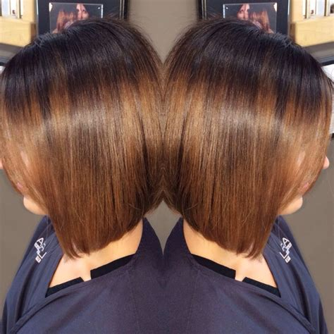 sombre hairstyle dark brown with caramel ombre sombre bob hairstyle