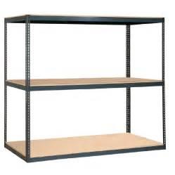 edsal shelving lowes shop edsal 84 in h x 96 in w x 48 in d 3 tier steel