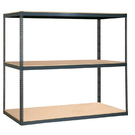 lowes shelving units shop edsal 84 in x 96 in w x 48 in d 3 tier steel freestanding shelving unit at lowes