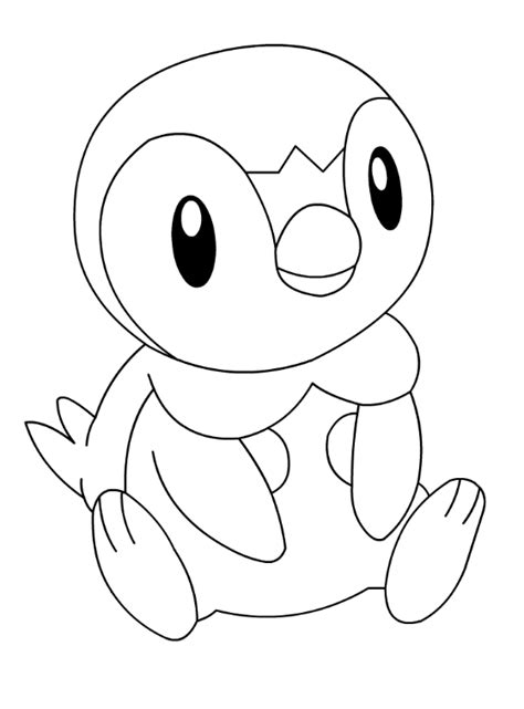 pokemon coloring pages piplup piplup colouring page anime pokemon cute penguin pictures