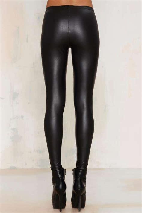 Legging Tebal Best Seller real slick vegan leather clothes best sellers