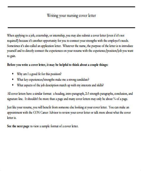 nursing cover letter format 6 nursing cover letter exles in word pdf