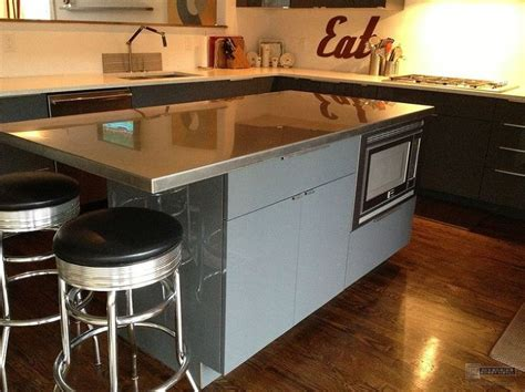 steel top kitchen island stainless steel kitchen table with butcher block top creepingthyme info