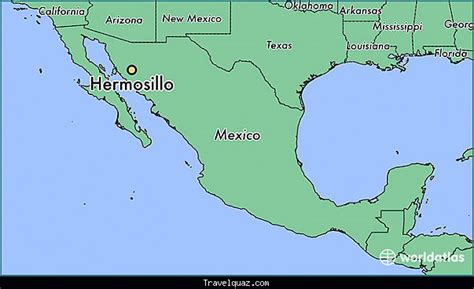 hermosillo sonora mexico map map of hermosillo travelquaz com