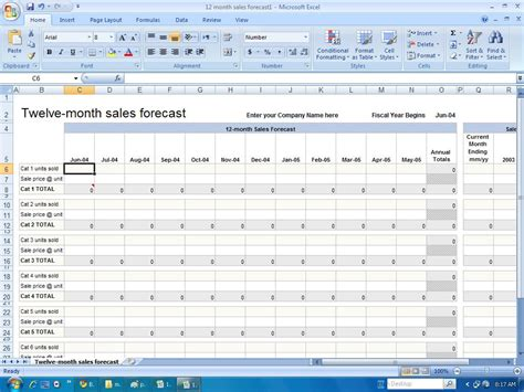sales forecast template free sales forecast template excel