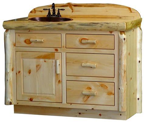 36 Quot Rustic Pine Log Bathroom Vanity Custom Log Bathroom Log Bathroom Vanity
