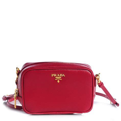 Prada Cross Bag by Prada Saffiano Mini Crossbody Bag Fuoco 77852