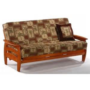 buy mission wood arm futon heirloom cherry solid wood