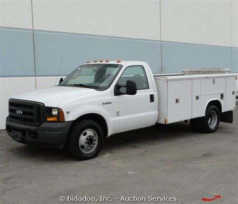 how to work on cars 1996 ford f series electronic valve timing find used 2005 ford f350 xl dually work utility truck tommy lift gate cabinets bidadoo in rialto