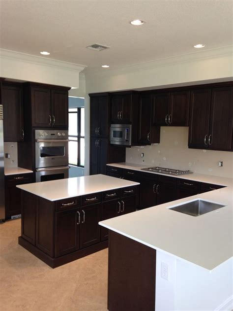 brown quartz countertops with white cabinets white quartz countertops and brown dark cabinets http