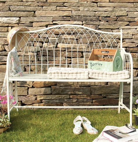 cream garden bench cream wrought iron hton garden bench by dibor