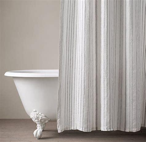 Baignoire Bébé Dbb by Italian Stripe Jacquard Linen Shower Curtain The Loft It