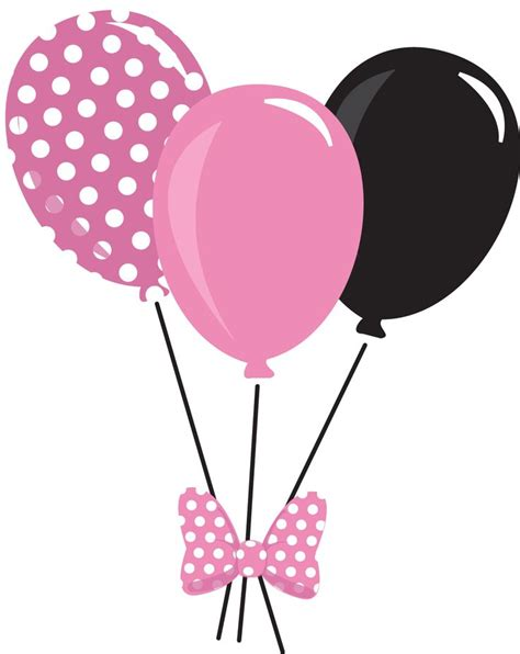 Pink clipart black balloon pencil and in color pink clipart black balloon