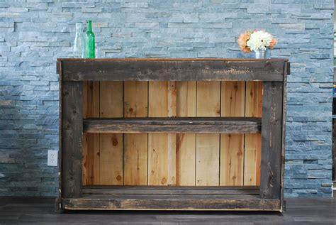 Wood Bar Bar 5 Foot Rustic Wood Bar With Back Shelving Platinum