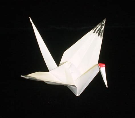 Folded Paper Cranes - journey whooping cranes