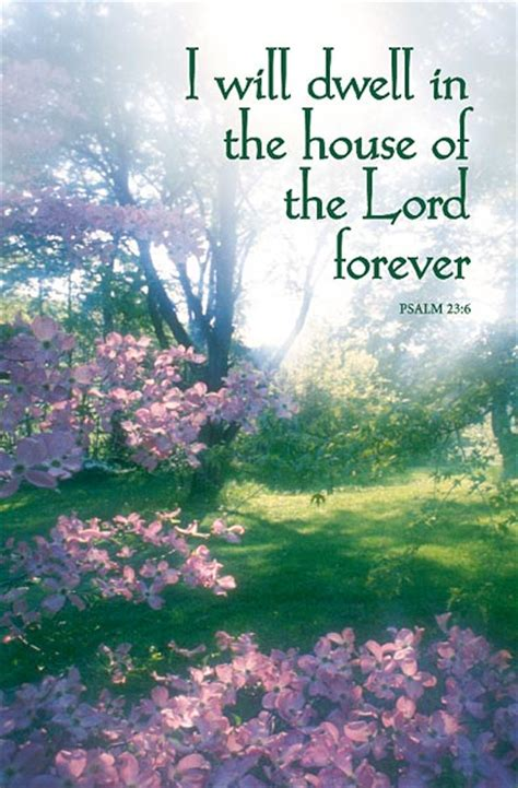I Will Dwell In The House Of The Lord Forever Funeral Bulletin Regular Size