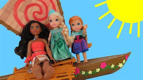 moana boat toys r us moana meets queen elsa anna elsa toddlers sail and