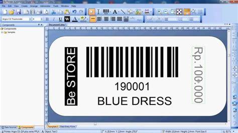 membuat barcode toko cara mudah desain barcode dengan bartender software how