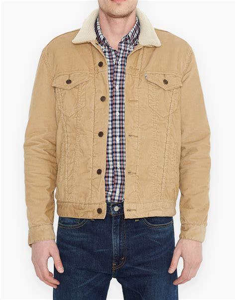 Bbb New Vintage Denim Jacket Intl levi s 174 retro 1960s mod mens cord sherpa trucker jacket in sand