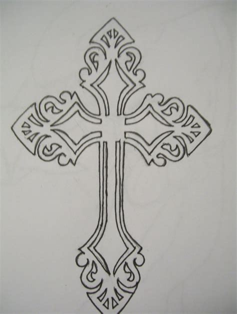 outline of cross tattoo 25 best cross tattoos designs for echomon