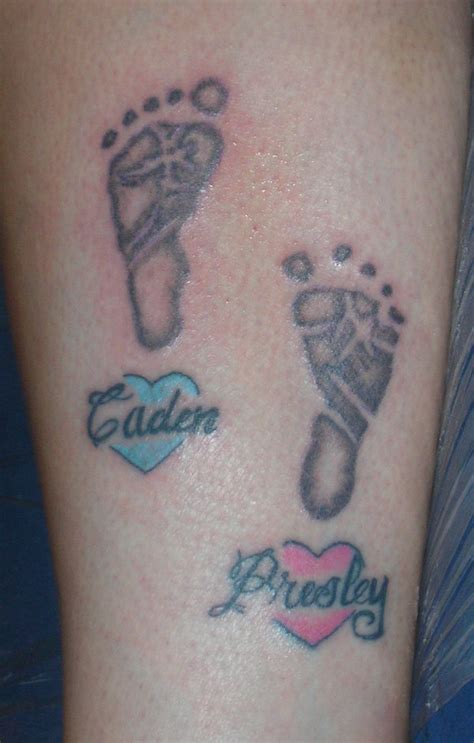 baby footprints tattoo 30 baby footprint tattoos hative