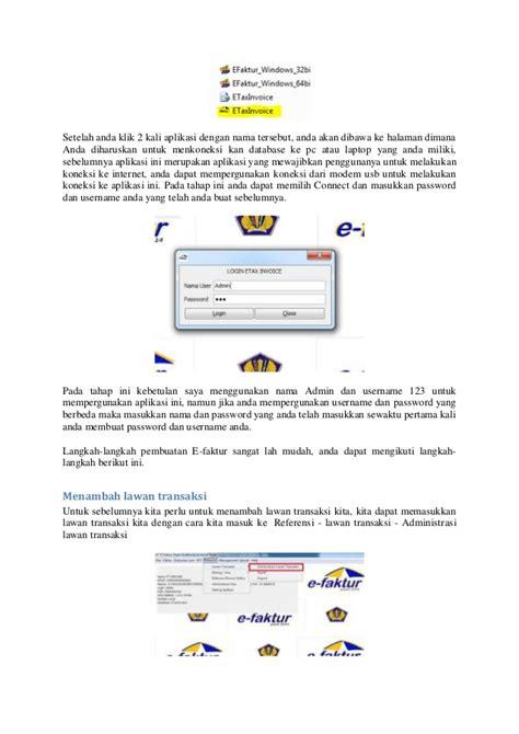 tutorial pembuatan faktur pajak online cara membuat faktur pajak on line cara membuat faktur